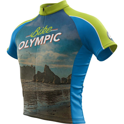 Olympic National Park + Mens Short Sleeve REC Cycling Jersey