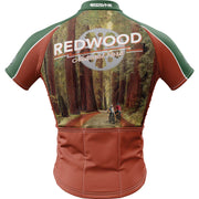 Redwood National Park + Mens Short Sleeve REC Cycling Jersey