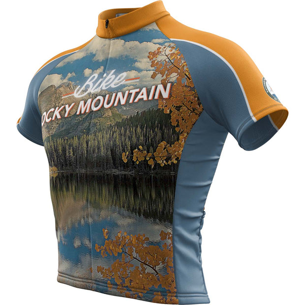 Rocky Mountain National Park + Mens Short Sleeve REC Cycling Jersey
