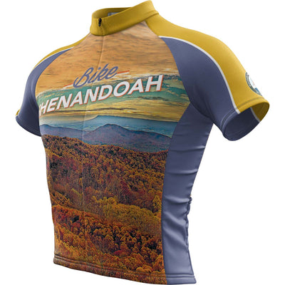 Shenandoah National Park + Mens Short Sleeve REC Cycling Jersey