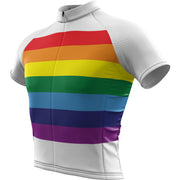 Unity Rainbow + Mens Short Sleeve REC Cycling Jersey