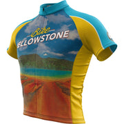 Yellowstone National Park + Mens Short Sleeve REC Cycling Jersey