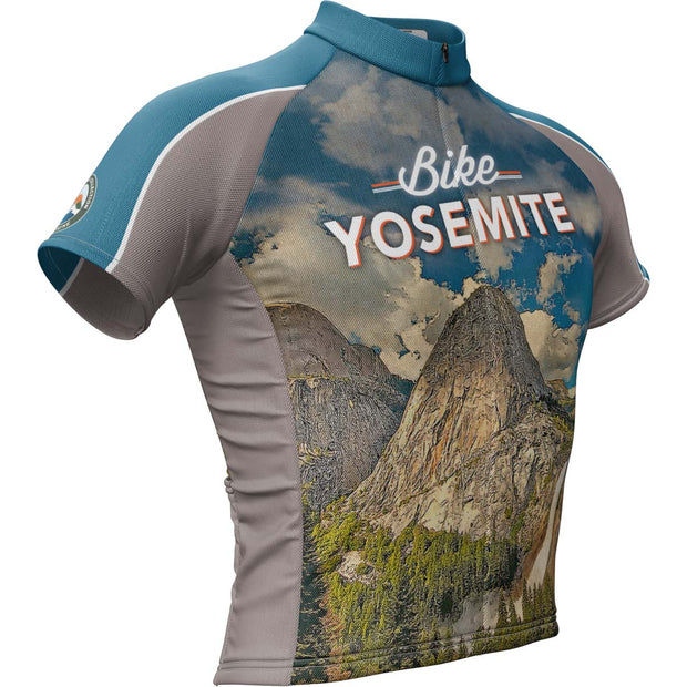 Yosemite National Park + Mens Short Sleeve REC Cycling Jersey