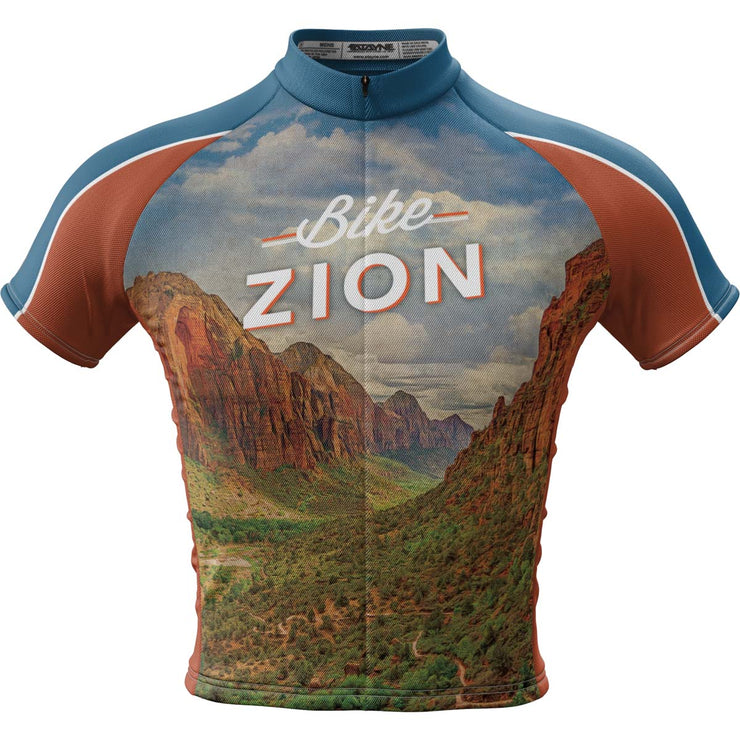 Zion National Park + Mens Short Sleeve REC Cycling Jersey