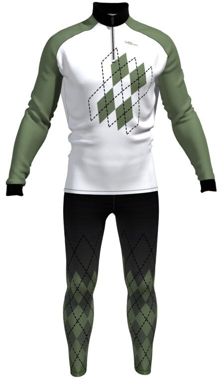 Mens Argyle Two Piece Ski Suit