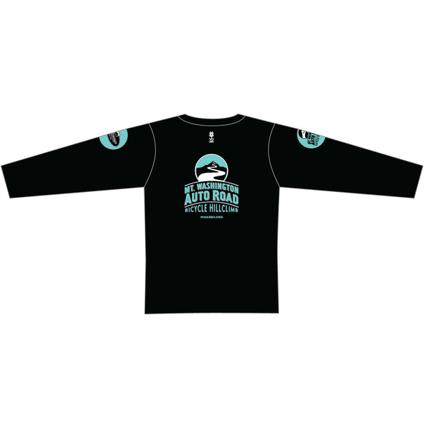 Mt. Washington Hill Climb Long Sleeve Tech Tee - Celeste