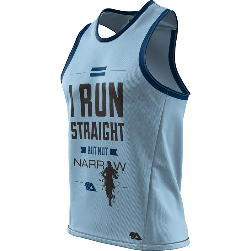 I Run Straight But Not Narrow + Mens REC Singlet Elite