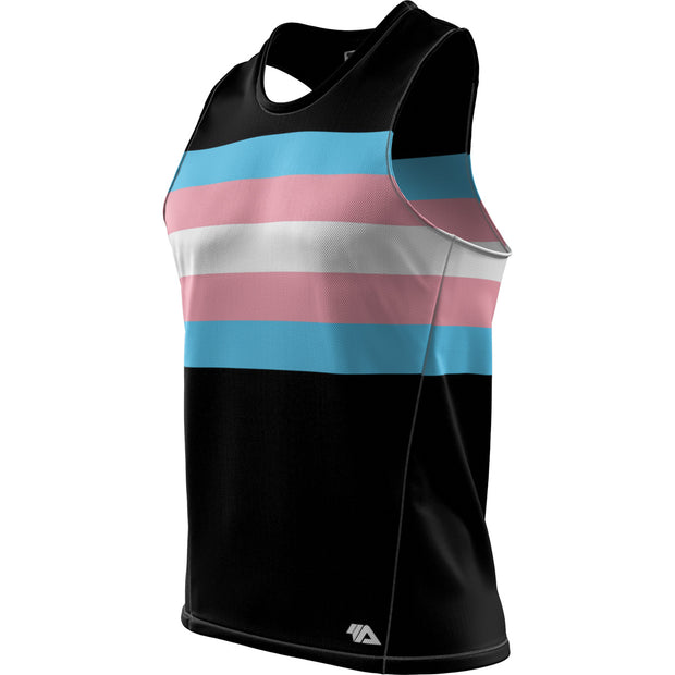 "Transgender Pride + Masculine ""Straight Cut"" Fit REC Singlet Elite"