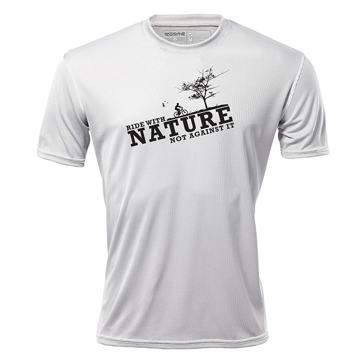Ride with Nature + Mens Short Sleeve REC T