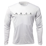 Reduce Reuse Recycle Ride + Mens Long Sleeve REC T