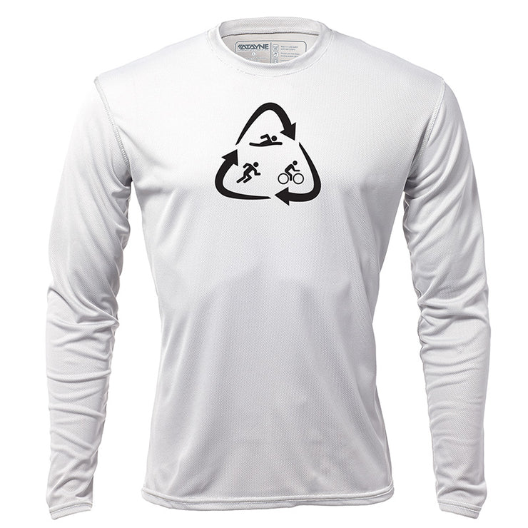 Recycled Tri + Mens Long Sleeve REC T
