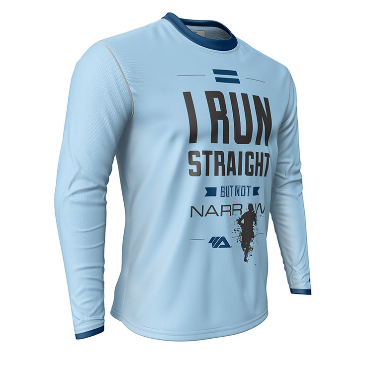 I Run Straight But Not Narrow + Mens Long Sleeve REC T Elite