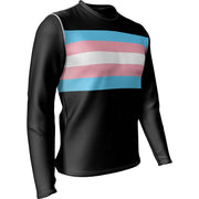 "Transgender Pride + Masculine ""Straight Cut"" Fit Long Sleeve REC T Elite"