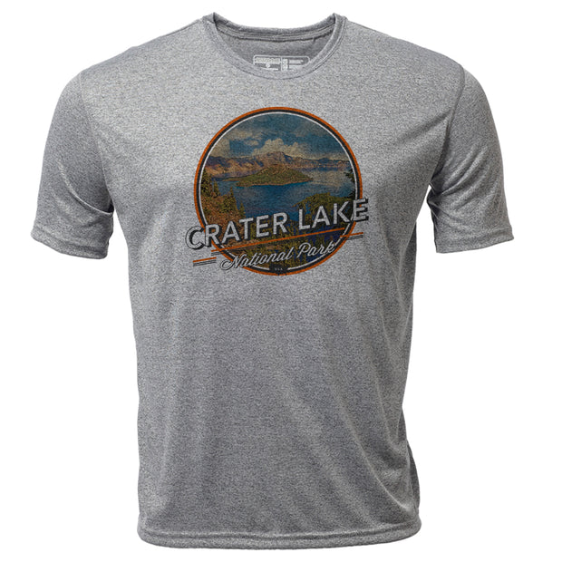 Crater Lake + Mens SS Hybrid T