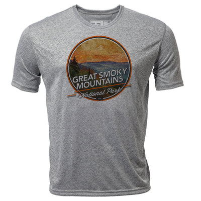 Great Smoky Mountains + Mens SS Hybrid T