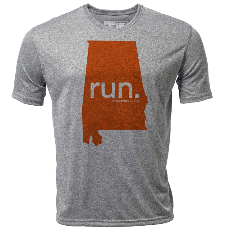 run. Alabama + Mens SS Hybrid T
