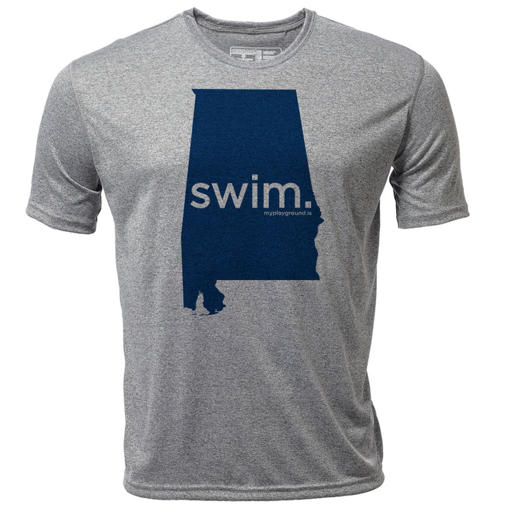 swim. Alabama + Mens SS Hybrid T
