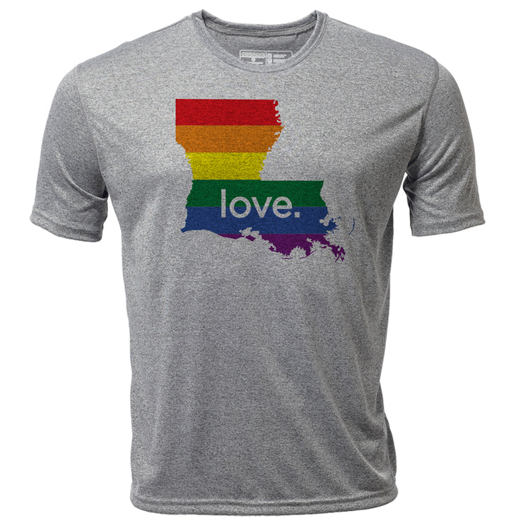 love. Louisiana + Mens SS Hybrid T