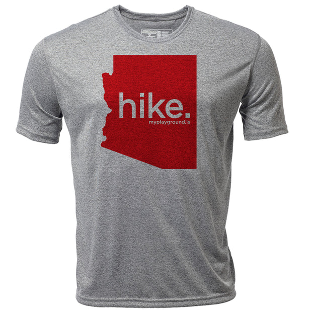 hike. Arizona + Mens SS Hybrid T