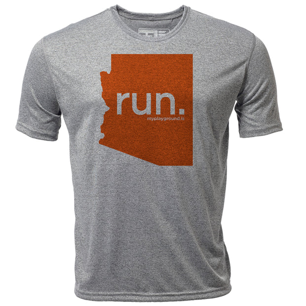 run. Arizona + Mens SS Hybrid T