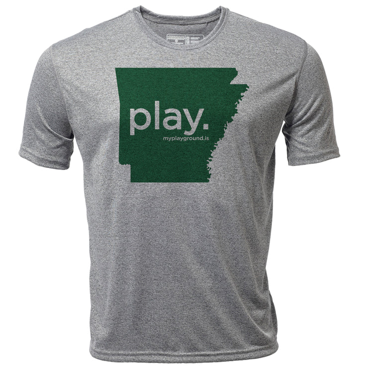 play. Arkansas + Mens SS Hybrid T