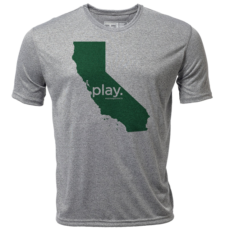play. California + Mens SS Hybrid T