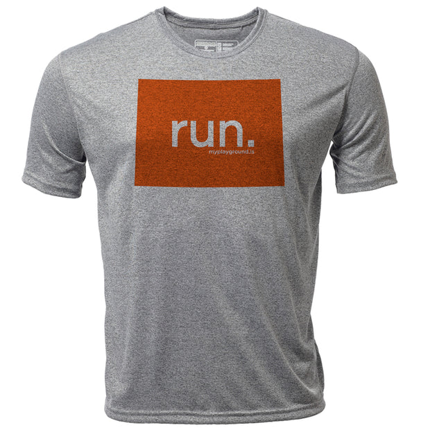 run. Colorado + Mens SS Hybrid T