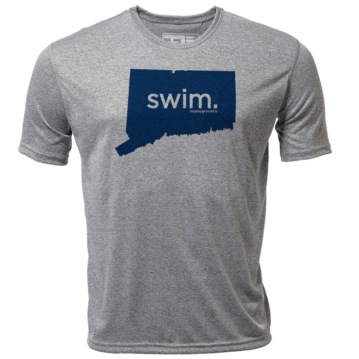 swim. Connecticut + Mens SS Hybrid T