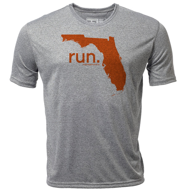 run. Florida + Mens SS Hybrid T