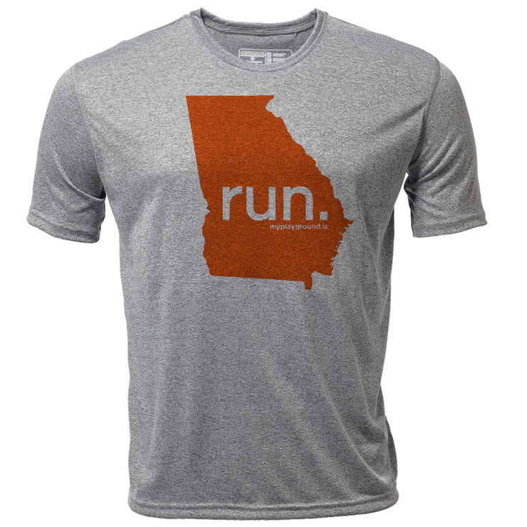 run. Georgia + Mens SS Hybrid T