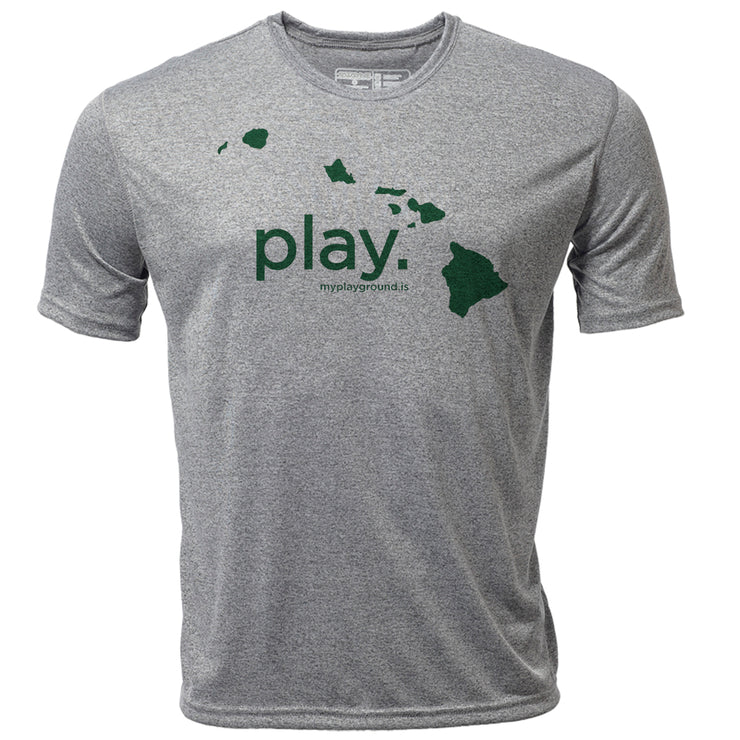 play. Hawaii + Mens SS Hybrid T