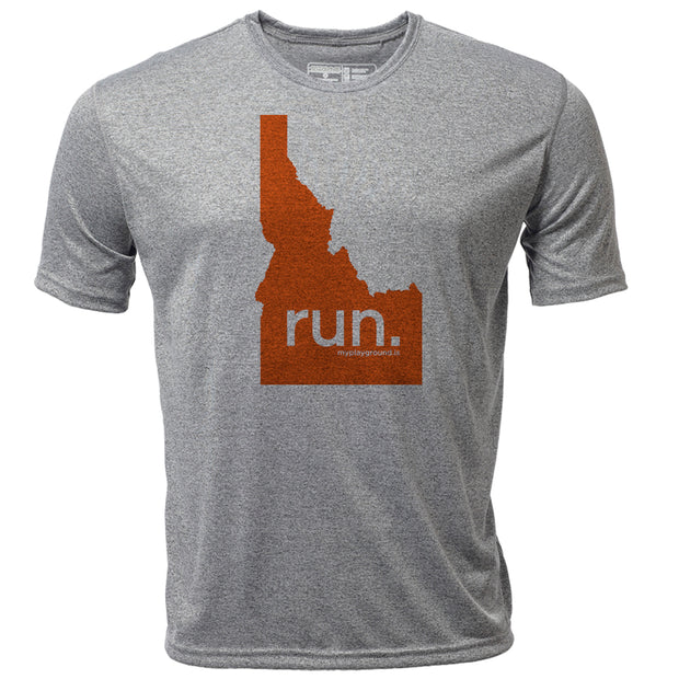 run. Idaho + Mens SS Hybrid T