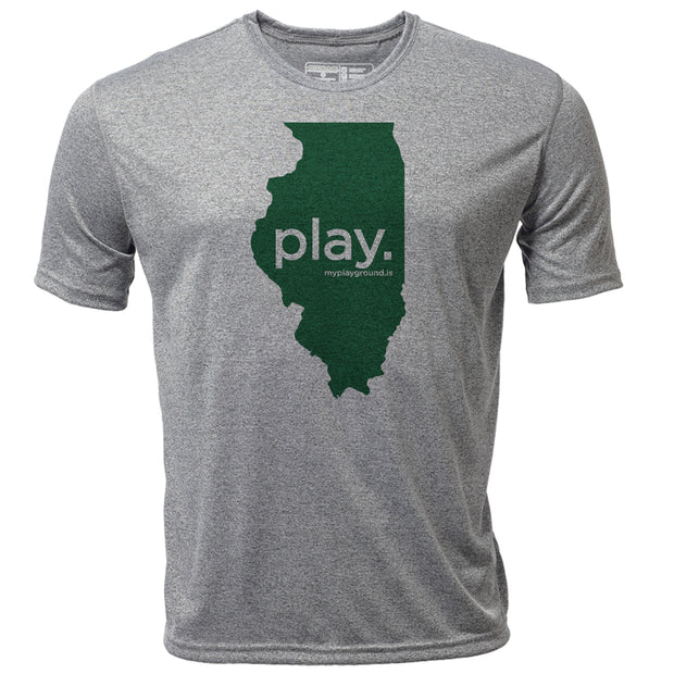play. Illinois + Mens SS Hybrid T