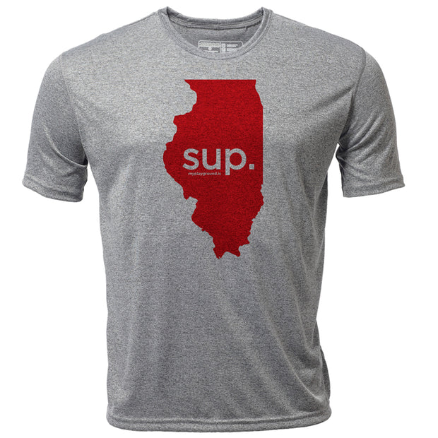 SUP. Illinois + Mens SS Hybrid T