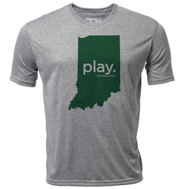 play. Indiana + Mens SS Hybrid T