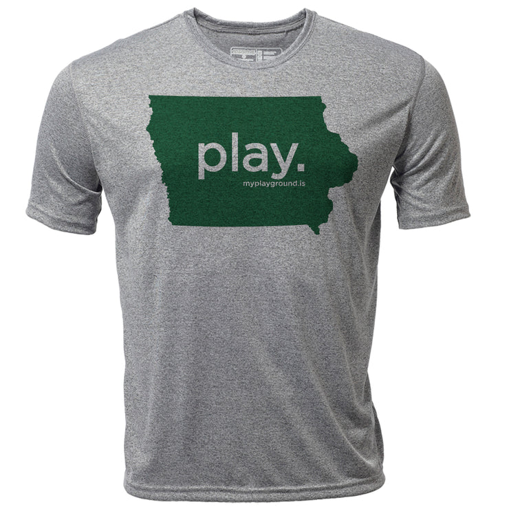 play. Iowa + Mens SS Hybrid T