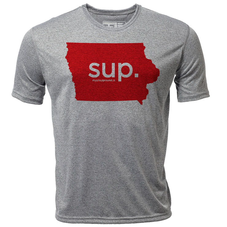 SUP. Iowa + Mens SS Hybrid T