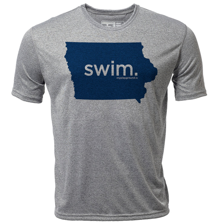swim. Iowa + Mens SS Hybrid T