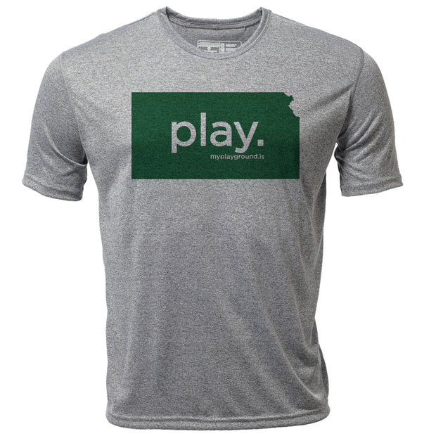 play. Kansas + Mens SS Hybrid T
