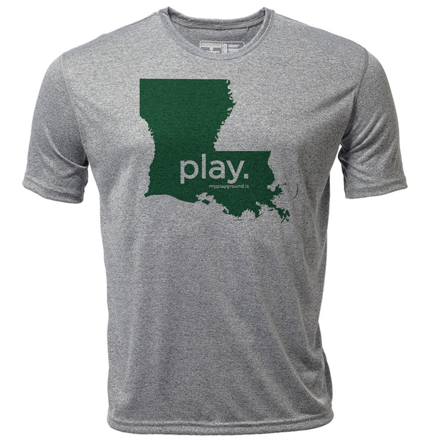 play. Louisiana + Mens SS Hybrid T