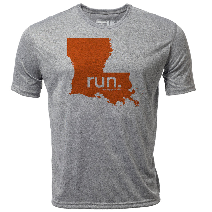 run. Louisiana + Mens SS Hybrid T