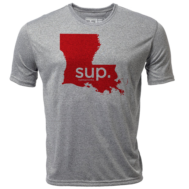 SUP. Louisiana + Mens SS Hybrid T