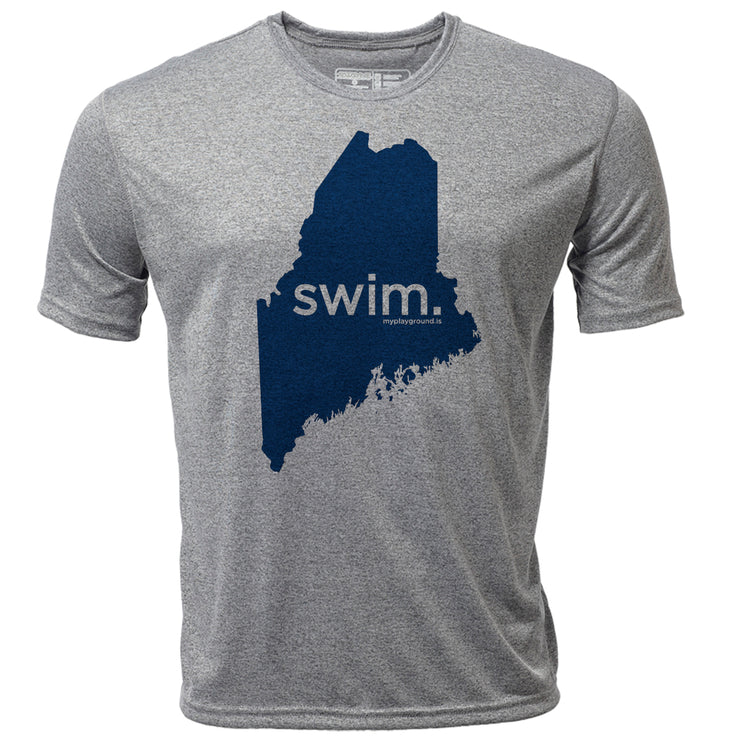 swim. Maine + Mens SS Hybrid T