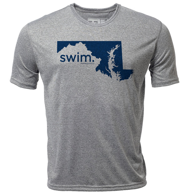 swim. Maryland + Mens SS Hybrid T