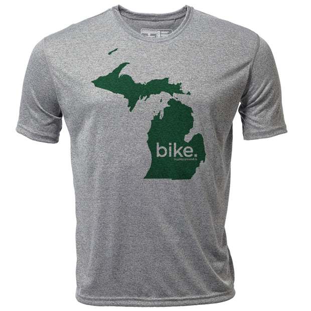 bike. Michigan + Mens SS Hybrid T