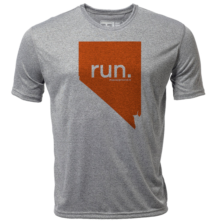 run. Nevada + Mens SS Hybrid T