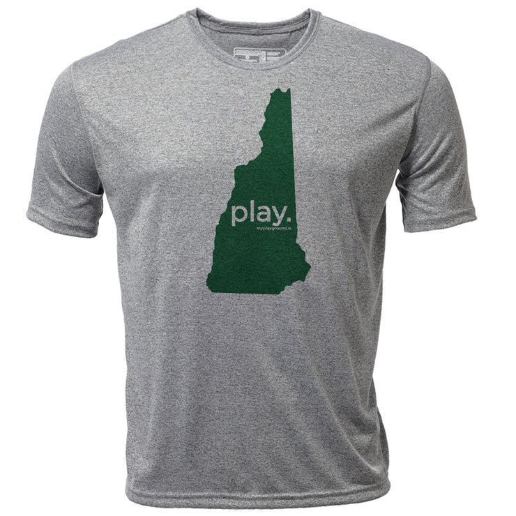 play. New Hampshire + Mens SS Hybrid T