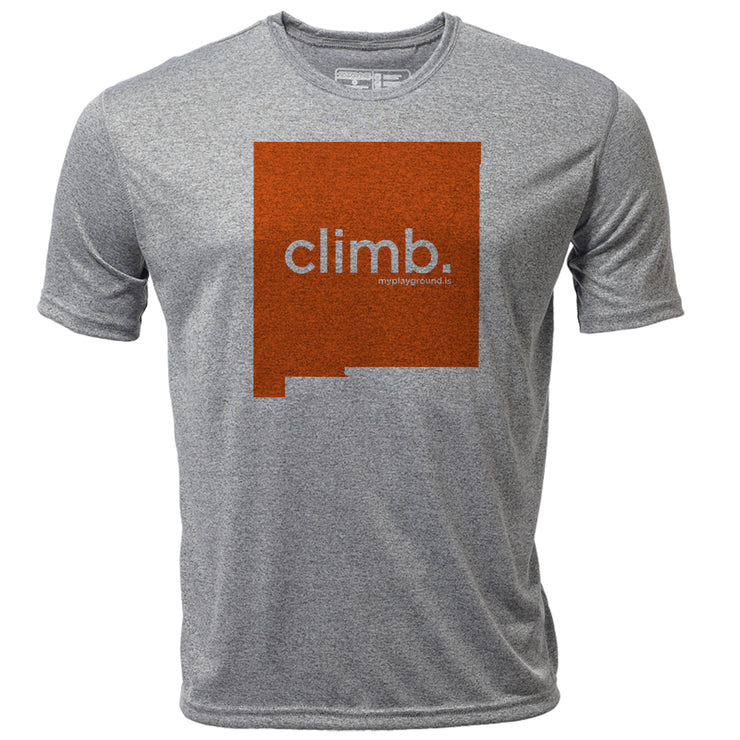 climb. New Mexico + Mens SS Hybrid T