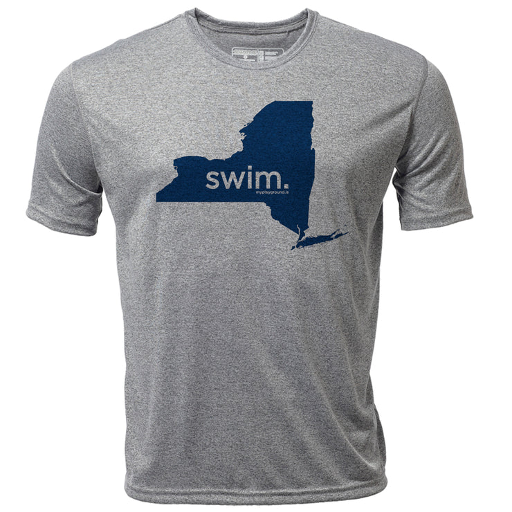 swim. New York + Mens SS Hybrid T