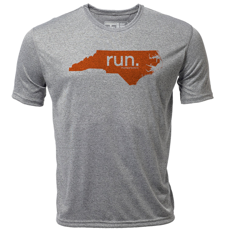 run. North Carolina + Mens SS Hybrid T